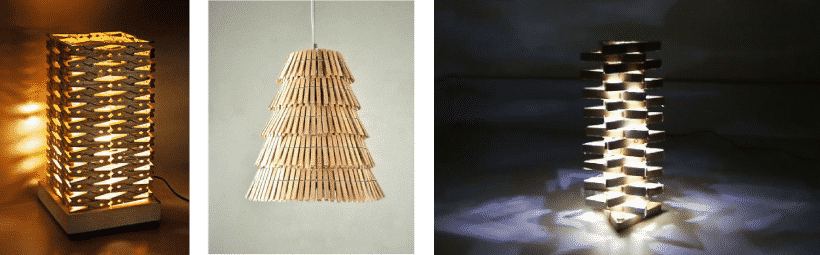 pinzas lámparas