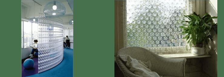 Botellas cortinas