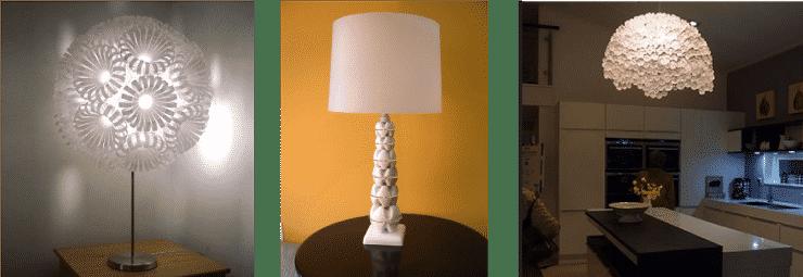 Botellas lámparas