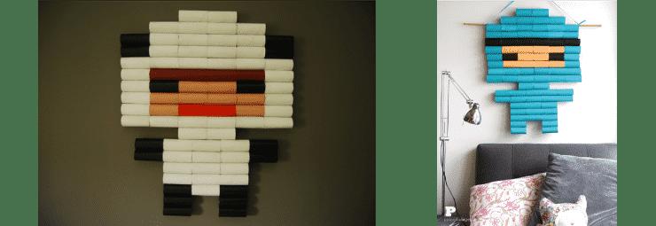 Decoracion rollos de cartón