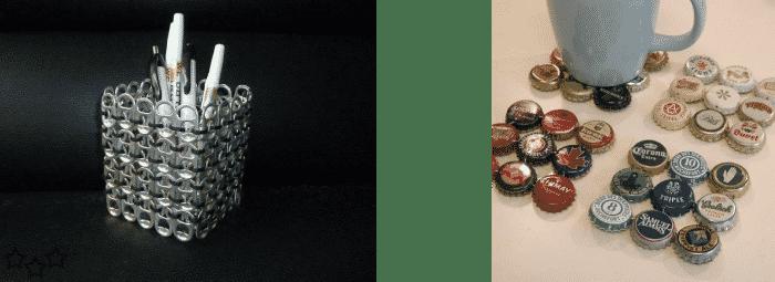 Objetos varios chapas y anillas