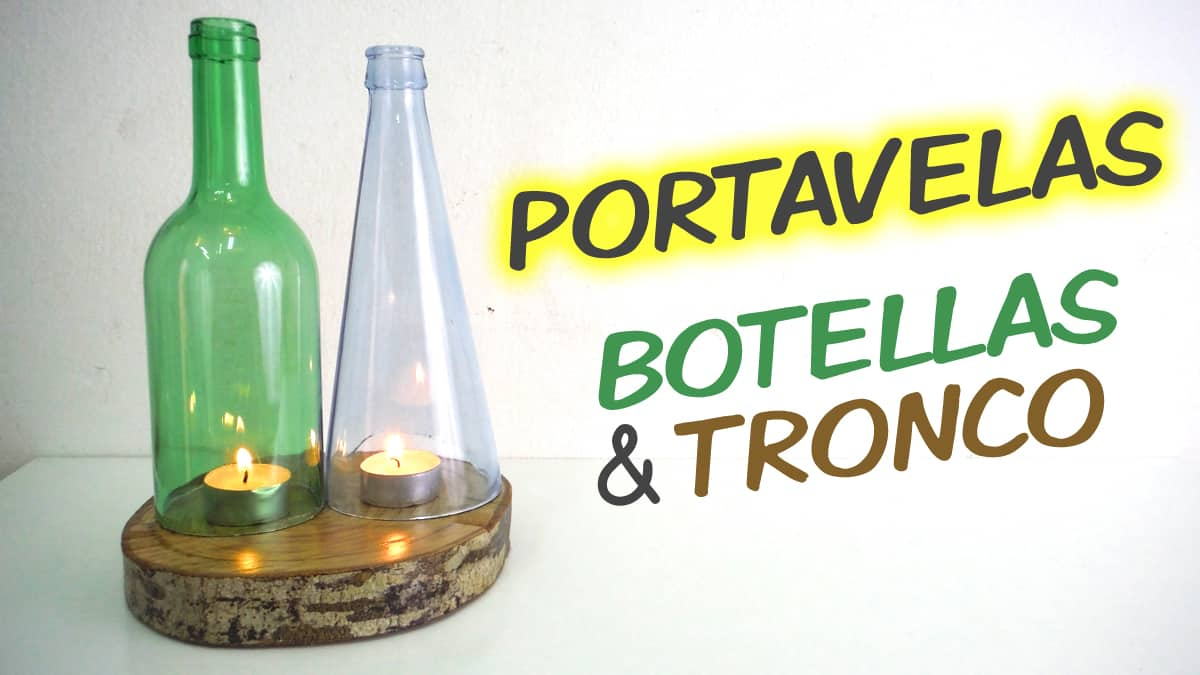Portavelas-botellas-tronco