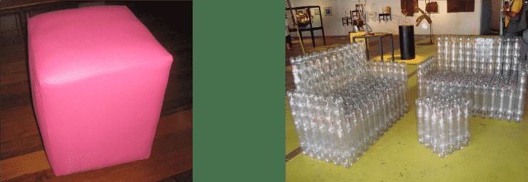 Botellas muebles