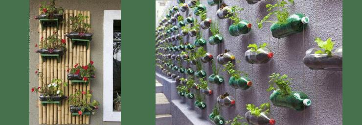 Jardineras botellas plastico